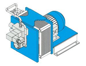 Kühler, Kupplungskühler, Zahnradpumpe, Steuerventile, Hydraulikfilter